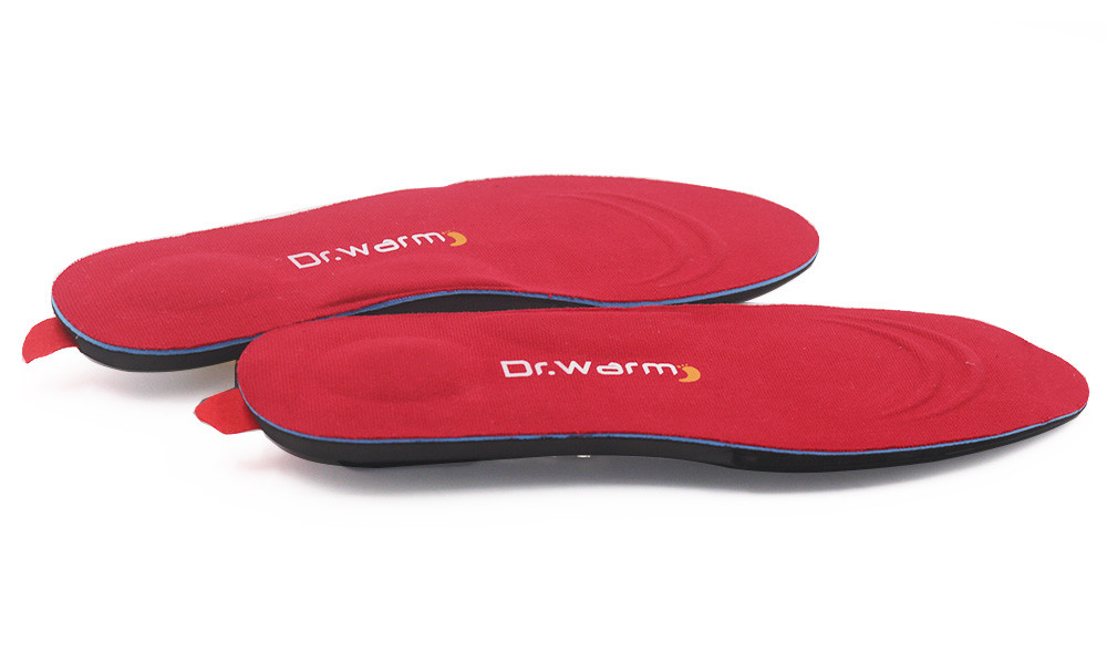 Dr. Warm warm battery powered insoles fit to most shoes for indoor use