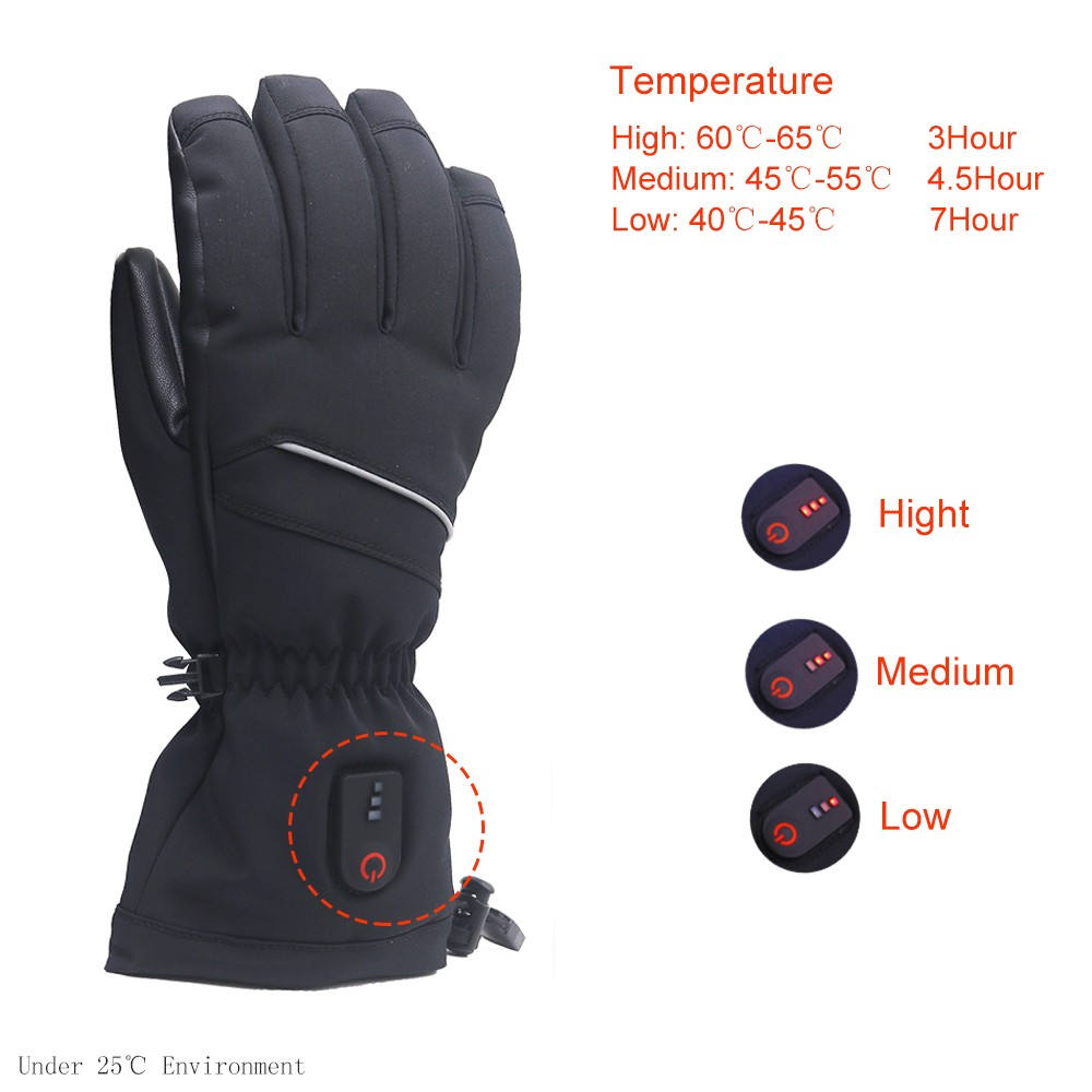 Dr. Warm high quality heated gloves canada with prined pattern for winter-9