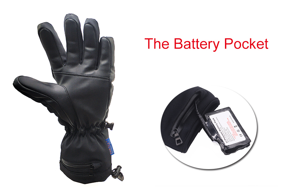 Electric Heated Gloves with Rechargeable Batteries Gloves Waterproof Thermal Gloves Touchscreen for Skiing Walking Hiking Climbing Driving Cold Weather Gloves-10