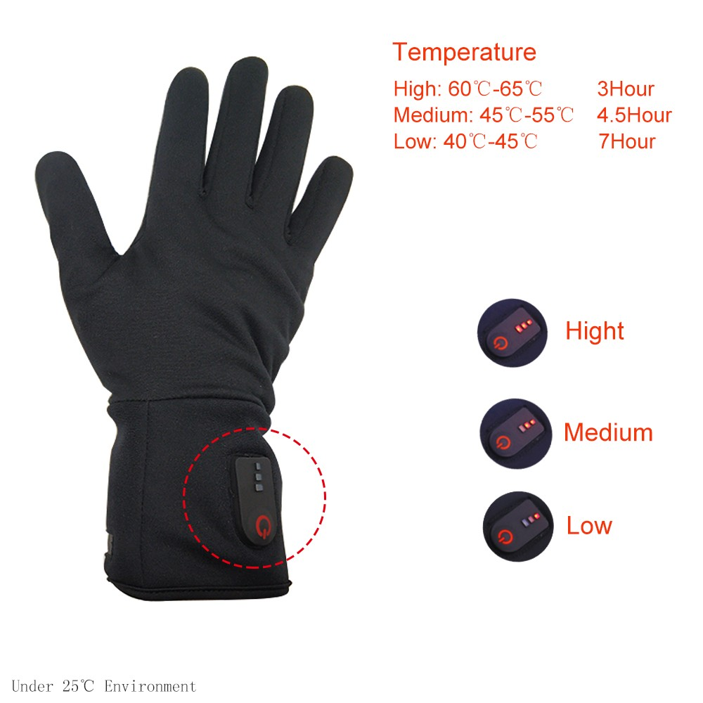 suitable battery heated gloves winter with prined pattern for ice house-8