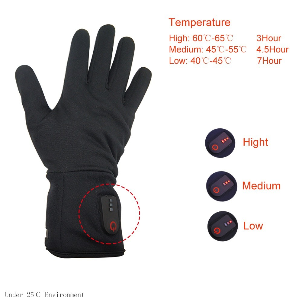 Dr. Warm sensitive battery operated gloves with prined pattern for indoor use