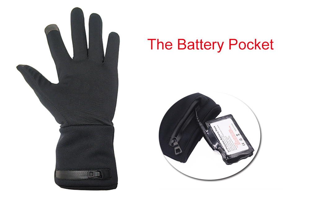 suitable battery heated gloves winter with prined pattern for ice house-10
