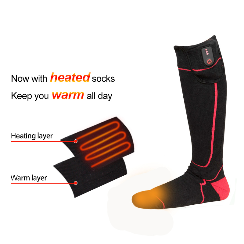 Dr. Warm cotton battery socks keep you warm all day for indoor use-9