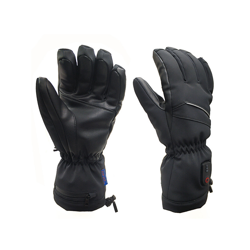 Electric Heated Gloves with Rechargeable Batteries Gloves Waterproof Thermal Gloves Touchscreen for Skiing Walking Hiking Climbing Driving Cold Weather Gloves