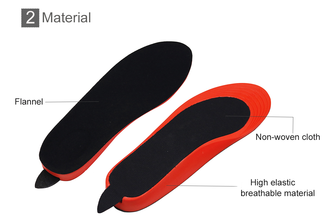 rechargeable heated insoles bluetooth warm with cotton for indoor use-12