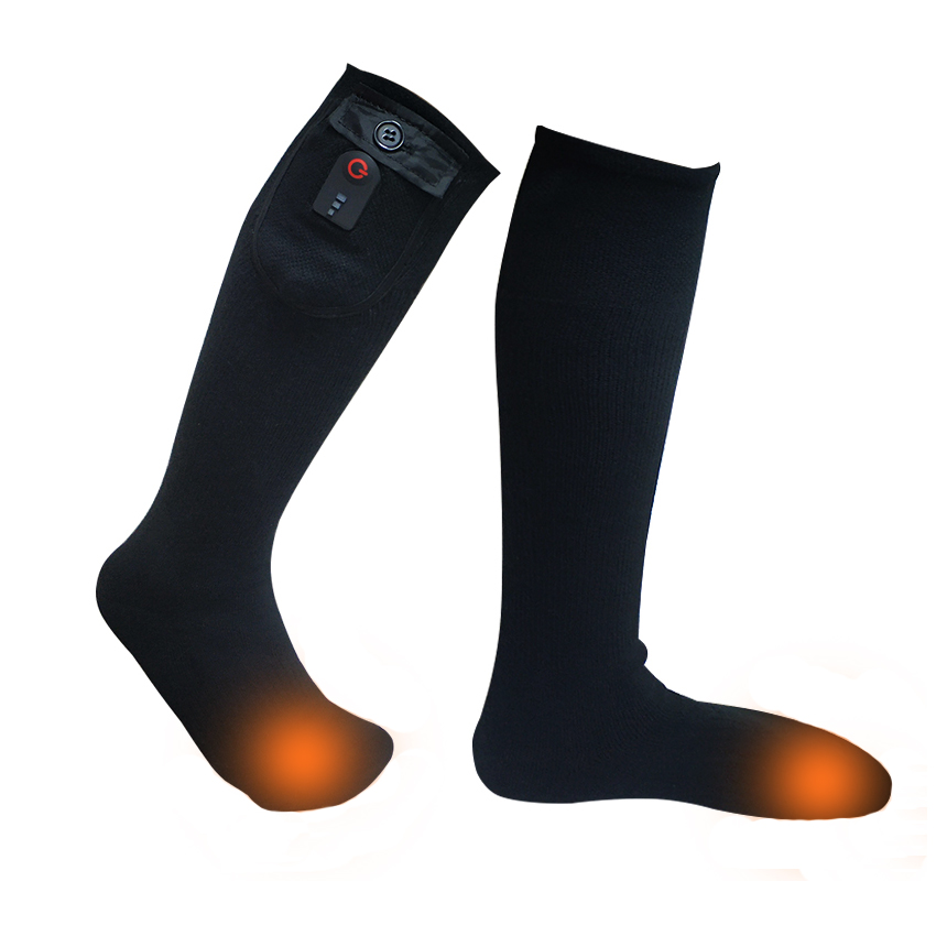 heated rechargeable heated socks winter with prined pattern for winter-1