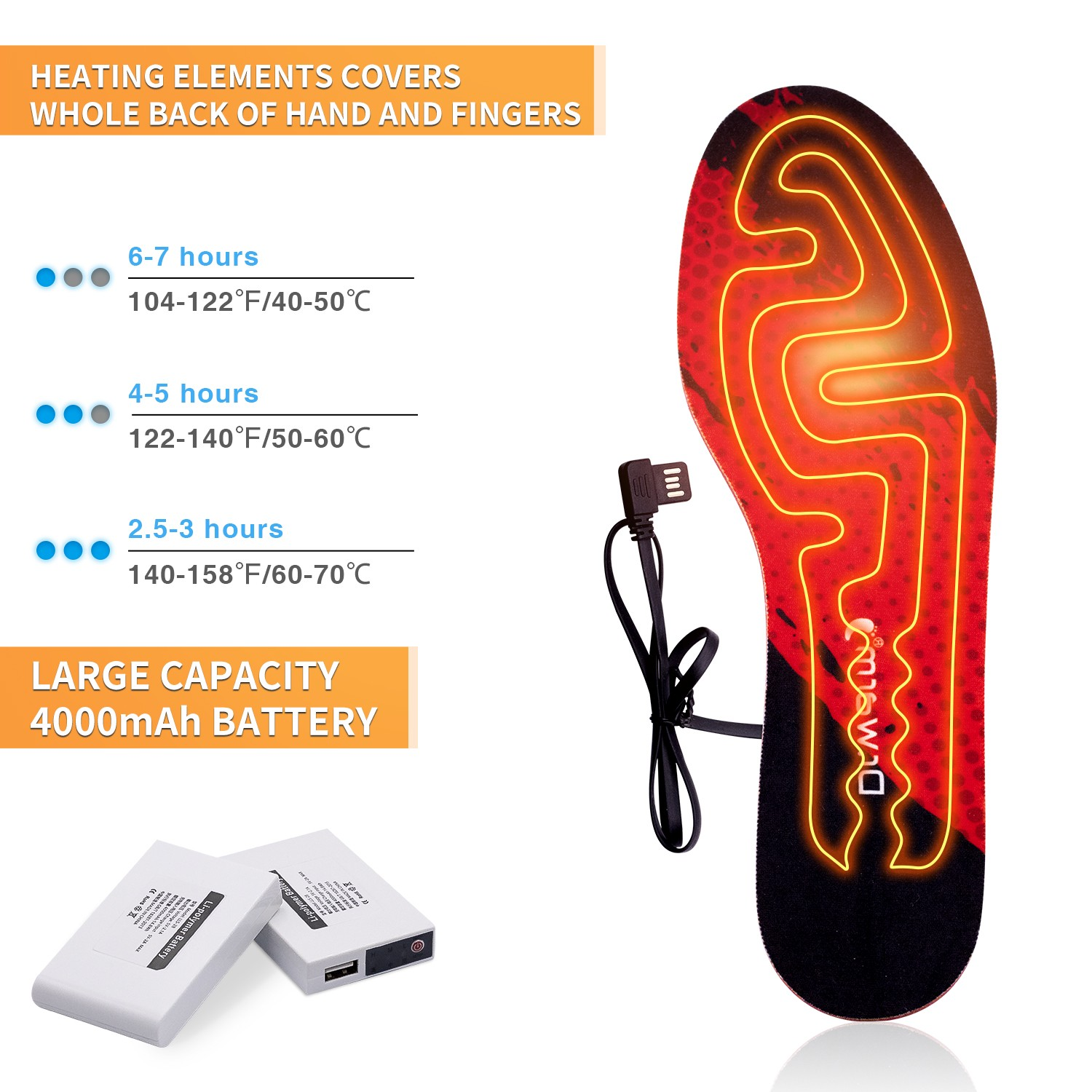 Dr. Warm battery heated insoles-12