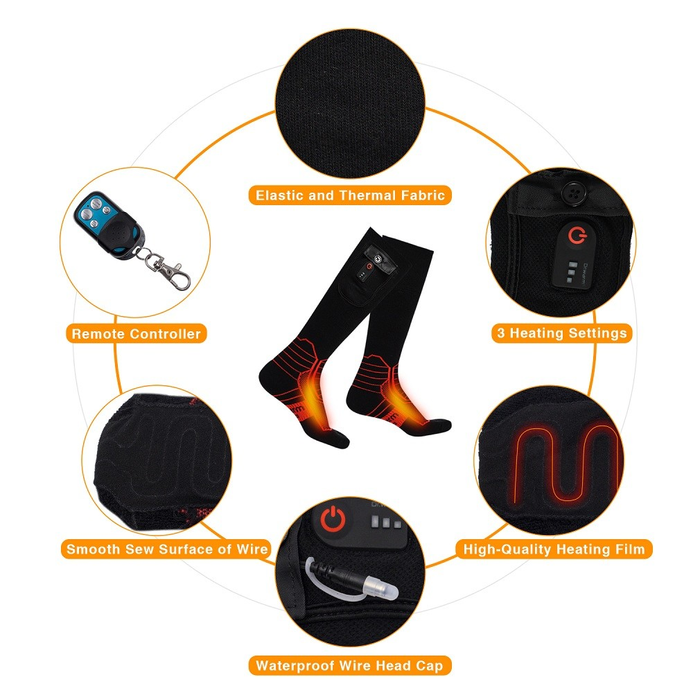Dr. Warm bluetooth heated socks