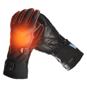 Dr.warm Heated Gloves for Men Women Electric Heated Leather Glove for Hand Warmer Outdoor Sports
