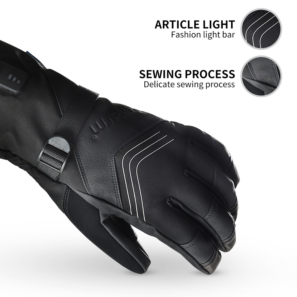 Dr. Warm heated bicycle gloves-3