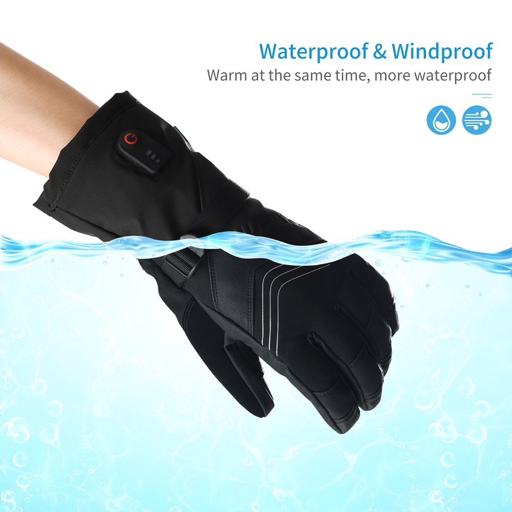 Dr. Warm heated bicycle gloves-11