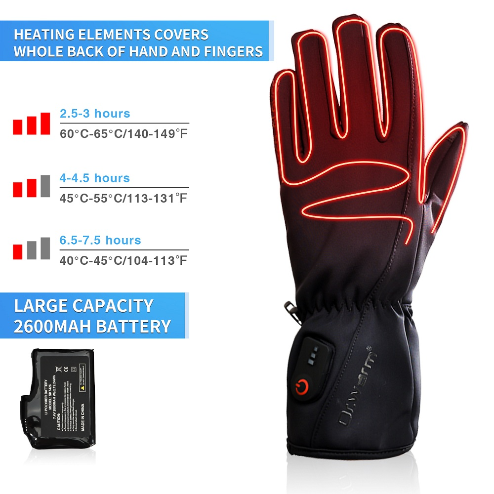 Dr. Warm heated bicycle gloves-2