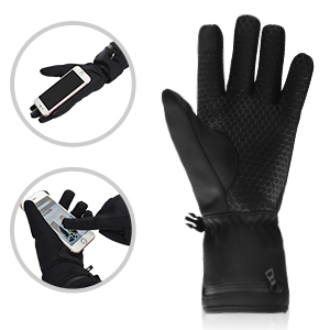 Dr. Warm heated snowboard gloves-6