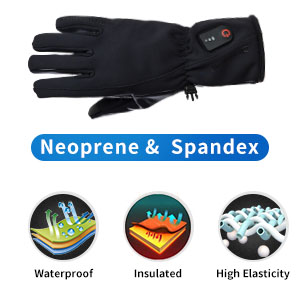 Dr. Warm heated snowboard gloves-8