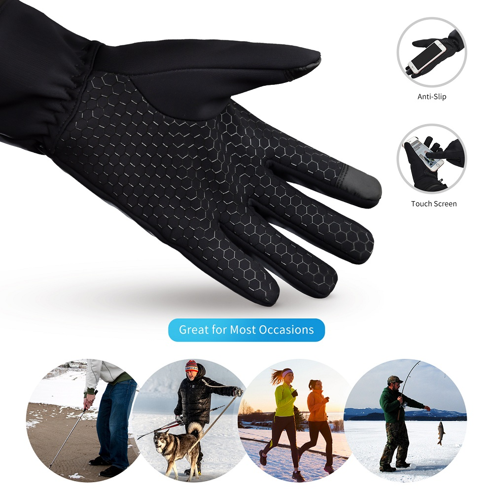 Dr. Warm heated snowboard gloves-12