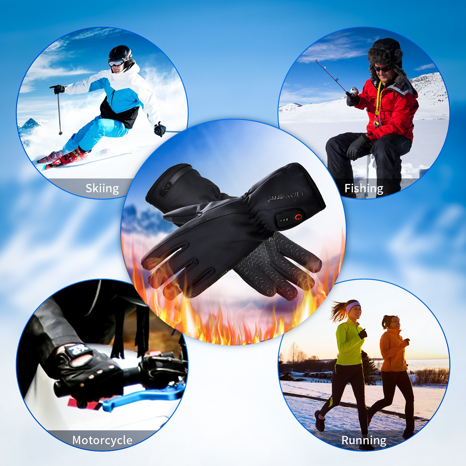 Dr. Warm heated snowboard gloves-10