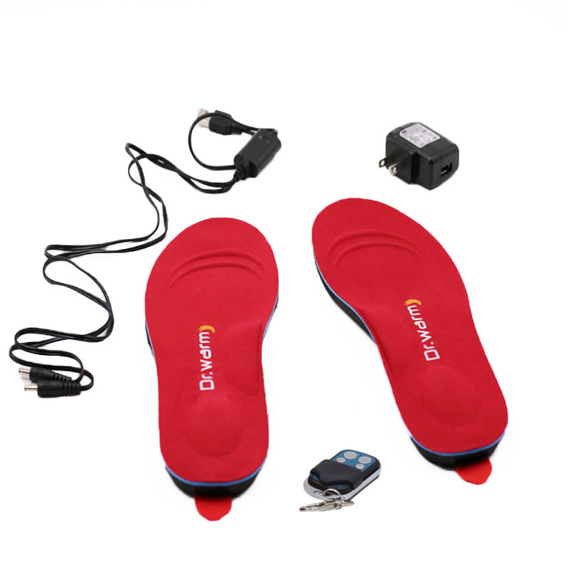 Heated Insoles foot warmer Electric R3 USB rechargeable remote control for biking/golfing/sailing