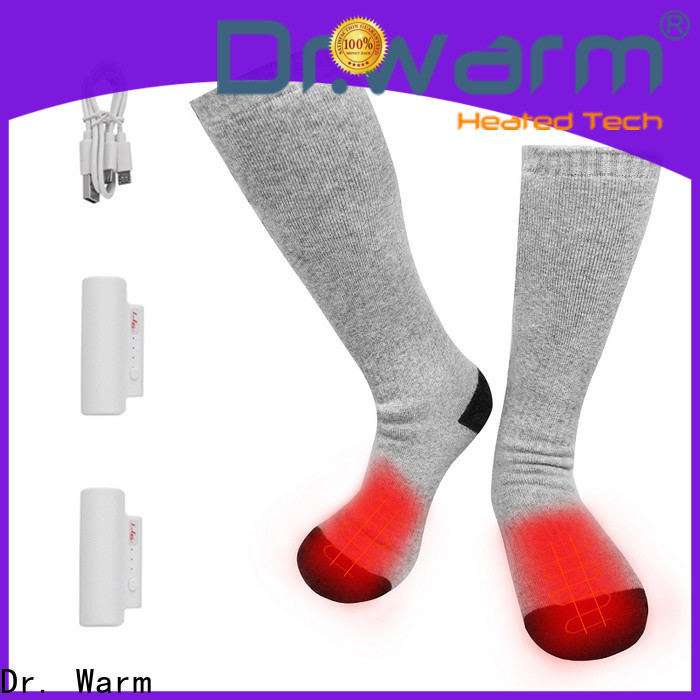 Dr. Warm cotton battery heated socks improves blood circulation for winter