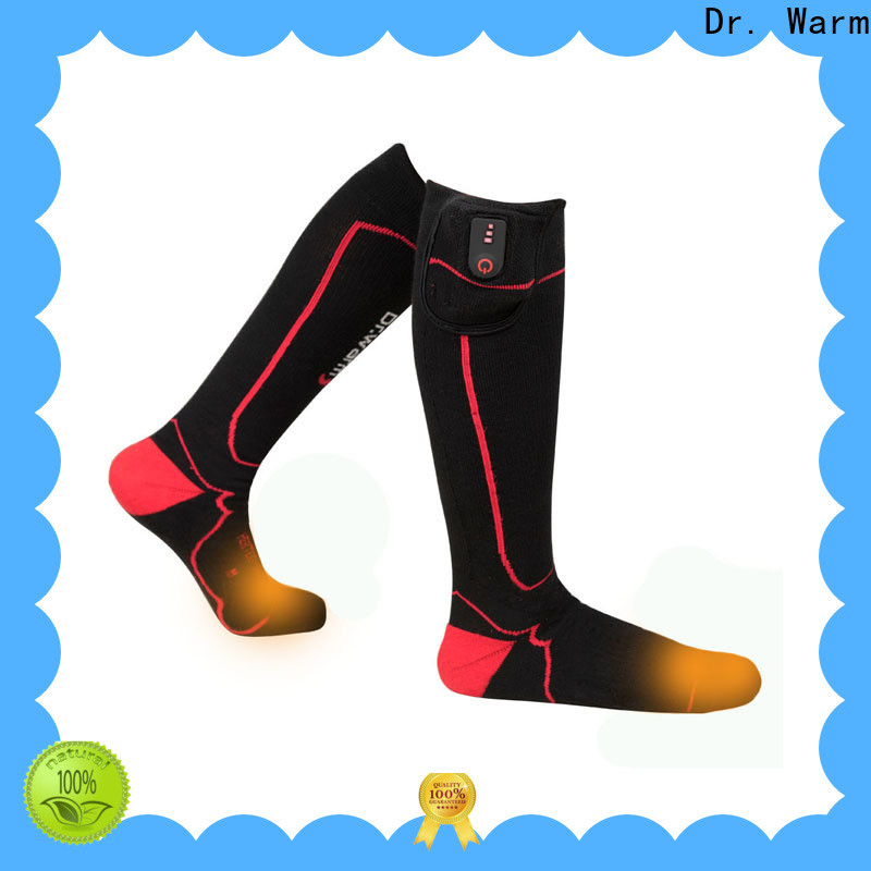 Dr. Warm cotton rechargeable battery heated socks improves blood circulation for outdoor