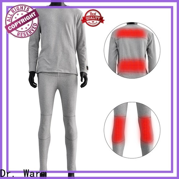 warm battery heated underwear level improves blood circulation for winter