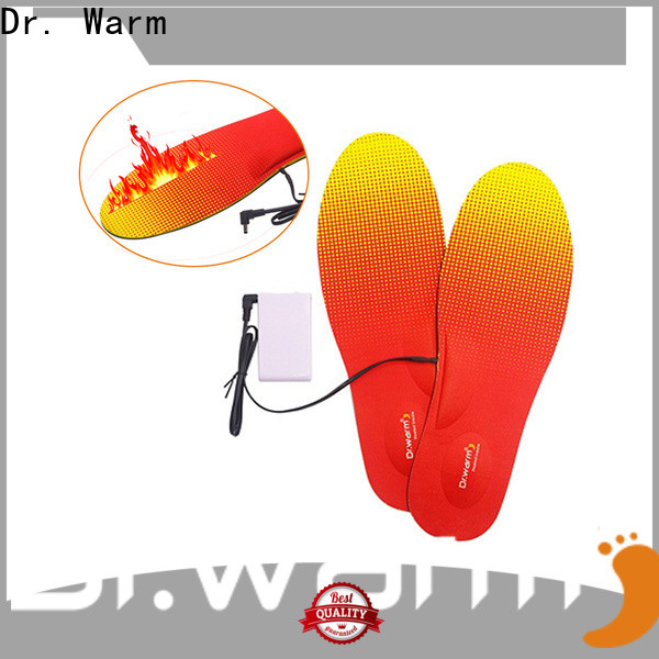 rechargeable electric heated shoe insoles skiing with cotton for indoor use