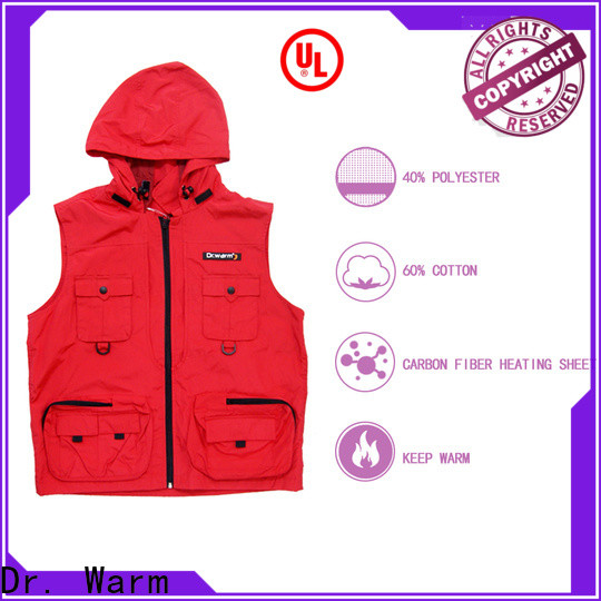Dr. Warm healthy battery operated heated vest with prined pattern for ice house