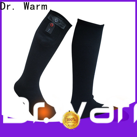 cotton battery powered heated socks cotton with prined pattern for ice house