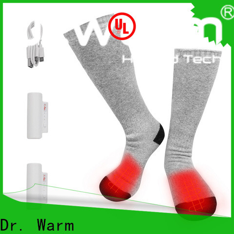 Dr. Warm soft rechargeable electric socks keep you warm all day for winter