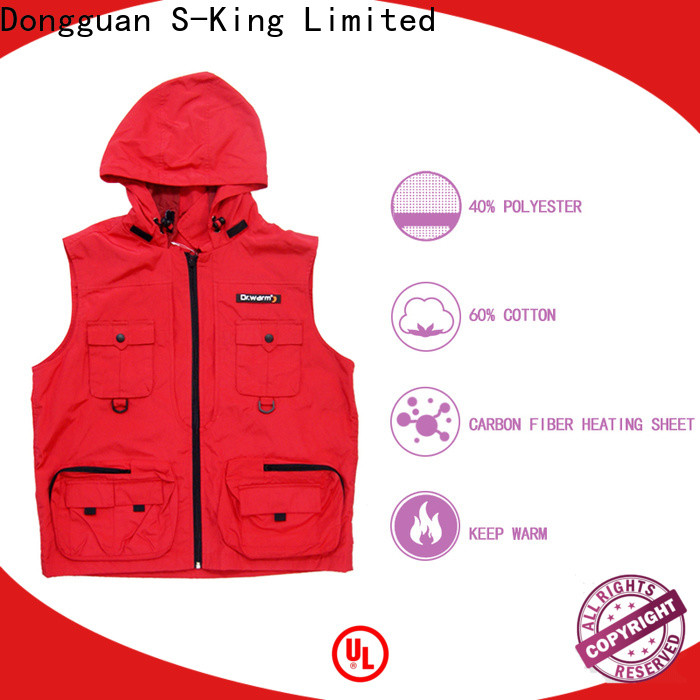 electric hunting vest control with prined pattern for ice house