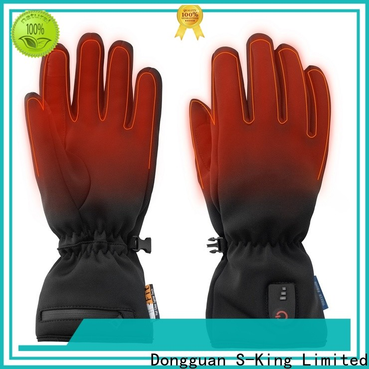 high quality battery operated gloves warm with prined pattern for winter