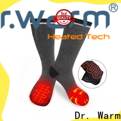 cotton best battery heated socks heating with prined pattern for indoor use