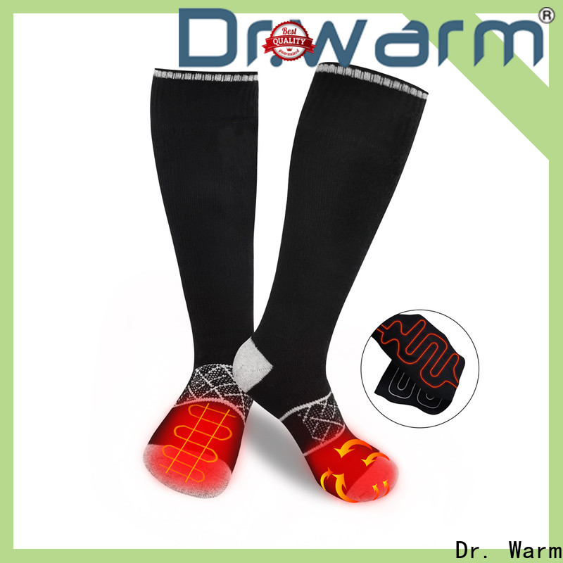 heated rechargeable heated socks soft with prined pattern for ice house