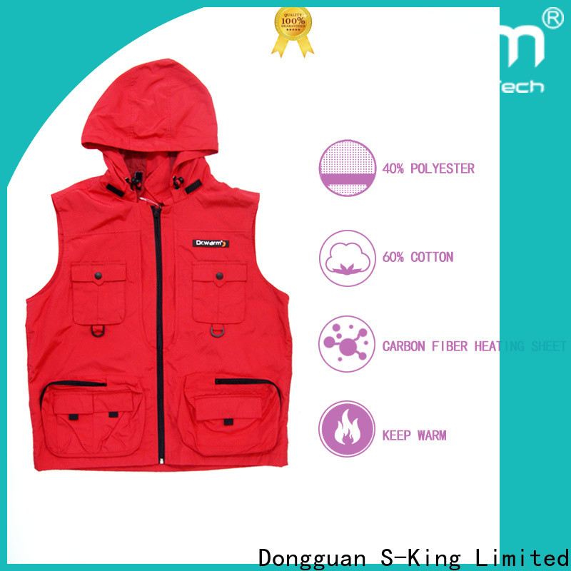 Dr. Warm health battery heated vest with prined pattern for home