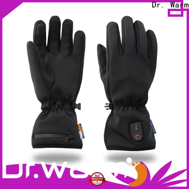 Dr. Warm sensitive electric gloves with prined pattern for outdoor