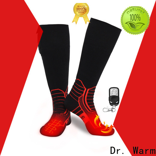 Dr. Warm cotton battery socks with prined pattern for outdoor