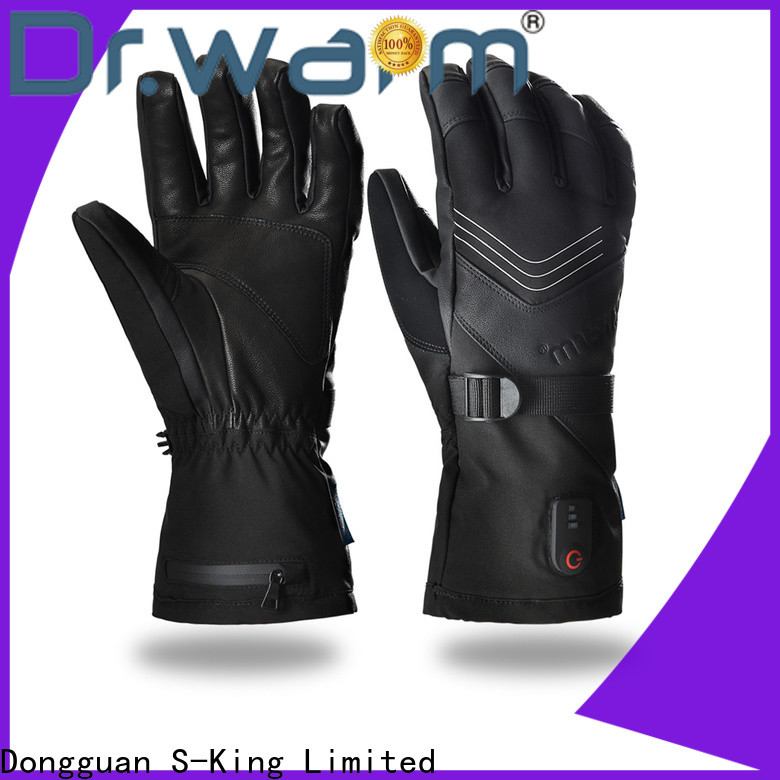 high quality battery heated gloves uk riding with prined pattern for outdoor