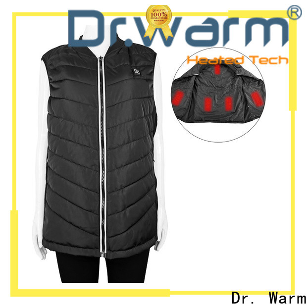 heated battery powered heated vest smart with prined pattern for winter