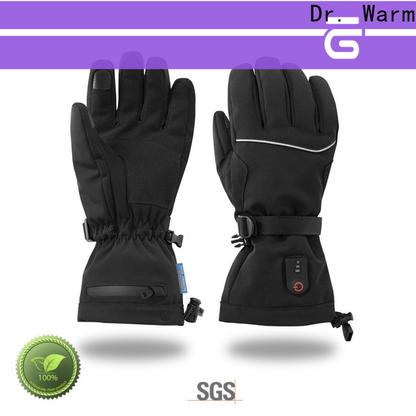 Dr. Warm screen battery operated heated gloves with prined pattern for indoor use