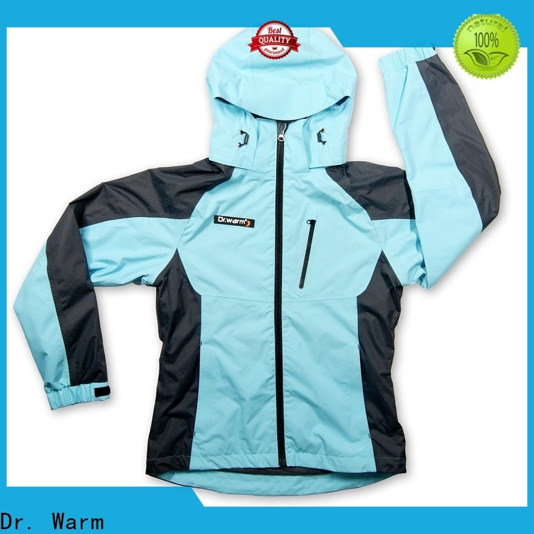 Dr. Warm winter electric heated jacket with heel cushion design for ice house