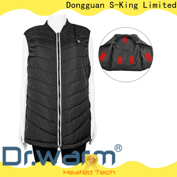 Dr. Warm healthy electric vest motorcycle with prined pattern for outdoor