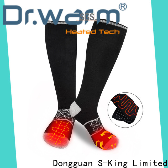 Dr. Warm warm battery operated socks with prined pattern for indoor use
