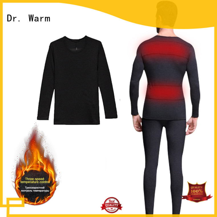 Dr. Warm heating battery operated underwear improves blood circulation for winter