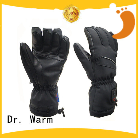 high quality rechargeable battery heated gloves feel with prined pattern for winter