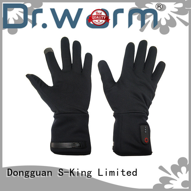 Dr. Warm high quality heated winter gloves with prined pattern for winter