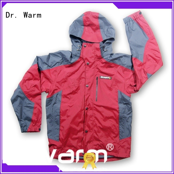 Dr. Warm heated battery powered heated jacket with shock absorption for indoor use