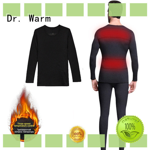 Dr. Warm comfortable battery heated thermal underwear improves blood circulation for indoor use