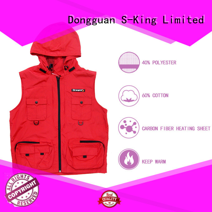 healthy heated riding vest control with prined pattern for outdoor