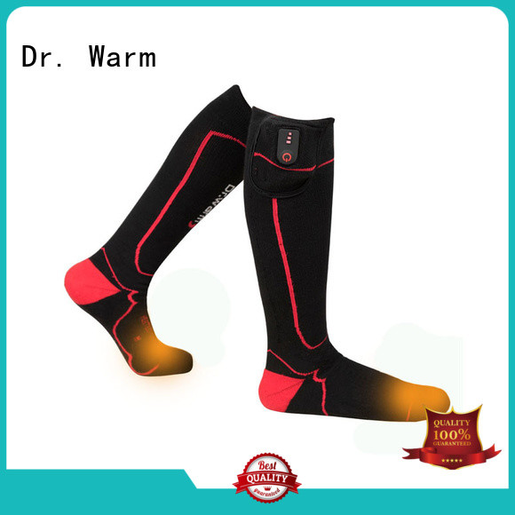 Dr. Warm soft electric warming socks with prined pattern for winter