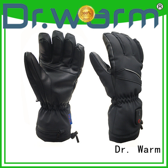 Dr. Warm suitable electric hand warmer gloves with prined pattern for winter