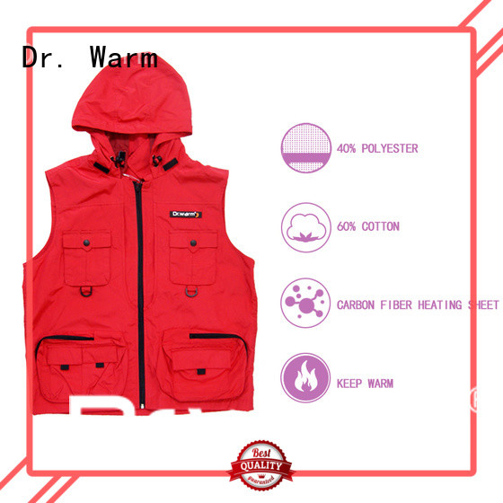 Dr. Warm heated riding vest with prined pattern for home